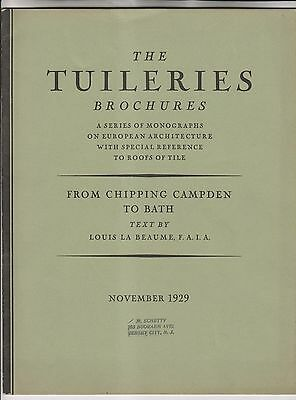 November 1929 Brochure - Tuileries - Tile - From Chipping Campden To Bath