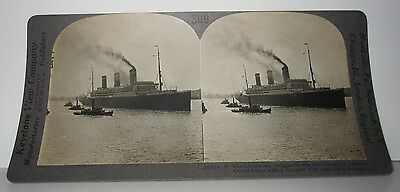 Vintage Stereoview - The Leviathan Originally The Vaterland