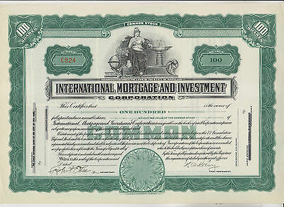 Vintage International Mortgage And Investment Corp Stock Certificate - Maryland