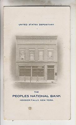 1907 Report - The Peoples National Bank - Hoosick Falls New York