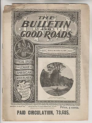 League Of American Wheelmen - Dec 16 1898 L.a.w. Bulletin And Good Roads