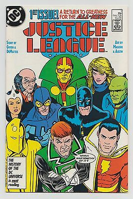 Justice League #1 (May 1987, DC) High-Res Scans High-Grade Comic Book VF