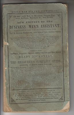 1852 Booklet - The Business Man's Assistant - More Than 100 Legal Forms