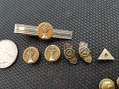 Lot 6 Vintage 10K Gold Filled Bell Systems Service Pin Award 5 10 15 20 Yr