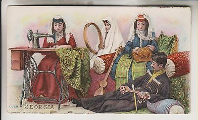 1894 Victorian Trade Card - Georgia - The Singer Manufacturing Co.