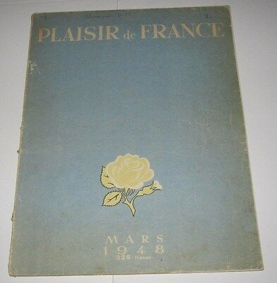Mars 1948 Magazine - Plaisir De France