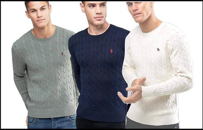 Polo Ralph Lauren Pullover Cable Knit Sweater Jumper For Mens