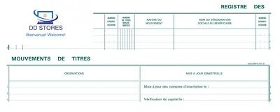 Exacompta 91E Registre 24/32 Mouvements de Titres 100 Pages