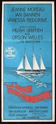 SAILOR FROM GIBRALTAR Original Daybill Movie Poster 1967 Jeanne Moreau