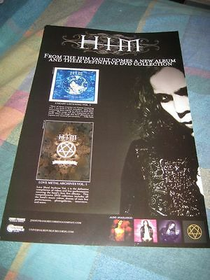HIM-(uneasy listening-love metal)-1 POSTER-11X17-MINT-RARE