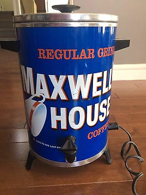 VINTAGE MAXWELL HOUSE 30 CUP COFFEE POT MAKER PERCOLATOR Advertising