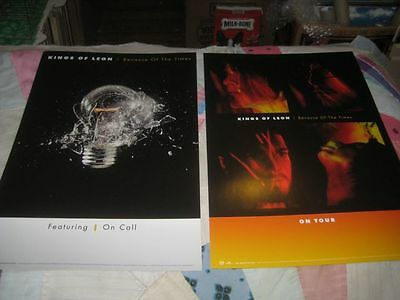 KINGS OF LEON-(because of the times)-1 POSTER FLAT-2 SIDED-12X18-NMINT-RARE