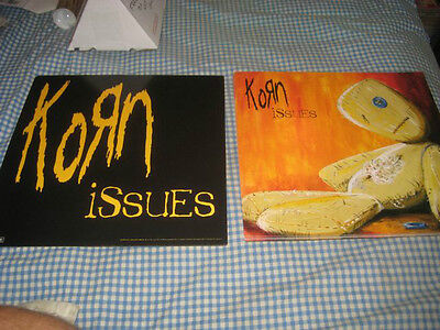 KORN-(issues)-1 POSTER FLAT-2 SIDED-12X12-NMINT-RARE
