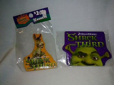 shrek the Third magnet set of 2 ( One Shrek, One Donkey) Metal