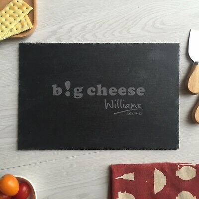 engraved cheese board custom personalized slate cutting board housewarming gift
