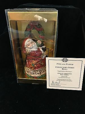 FITZ & FLOYD 1994 Night Before Christmas Collectors Series Lmt Ed Annual Bell