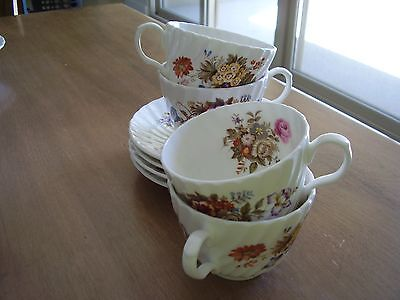 Aynsley Summertime Cups and Saucers Four (4) Sets FREE SHIPPING.