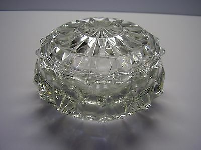 Windsor Diamond Clear Powder Jar with Lid Hard to Find FREE SHIPPING.