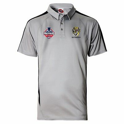 NEW Official 2017 Richmond Tigers Mens Premiers Polo (Small - 3X-Large)