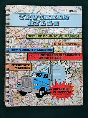 Truckers Atlas - 1982 US Cities & States - Highway & Street Maps