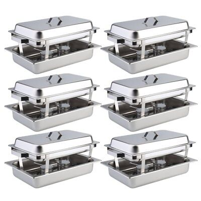 6 Pack Catering Chafing Dish Sets Stainless Steel Buffet Catering Food Warmer FG