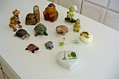 Turtle Figurines Collection Lot Of 14 Turtles Collectible