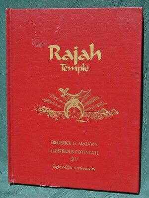 Rajah Temple Shrine Reading Pennsylvania 1977 Shriners' Anniversary History