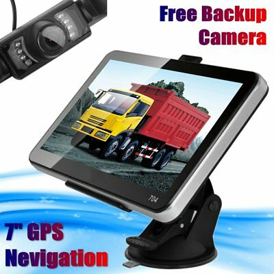 7'' Truck Car GPS Navigation System 4GB SAT NAV Bluetooth US Map Backup Camera!~