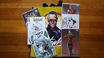 J Scott Campbell HUGE LOT Comic Con Exclusives Sketch Variant Stan Lee Elektra