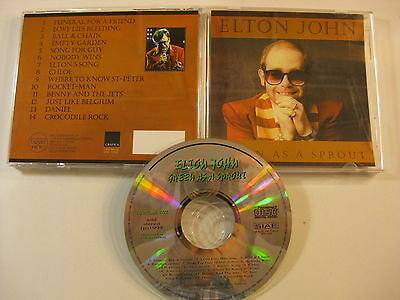 Elton John GREEN AS A SPROUT live concert original factory press CD