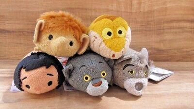 "100% AUTHENTIC Disney Tsum Tsum 3"" Jungle Book lot of  5 - MOWGLI NEW WITH TAGS"