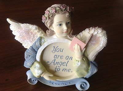"""Angels Among Us Figurine Picture Frame/Magnet """"Teacher"""" by Betty Singer"""