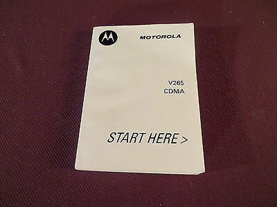 Motorola V265 User Guide - Manual - English & Spanish - October 2004