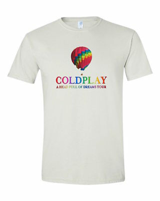 [B27] Brand New Coldplay A Head Full Of Dreams Tour Hot Air Balloon T-Shirt S-Xl