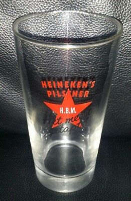 Rare Collectable Heineken Pilsener Het Meest Getapt! Beer Glass Good Condition