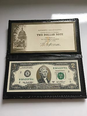 $2 Two Dollars 2003, United States, USA, Uncirculated B06422979A With Sleeve