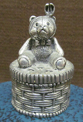 Royal Selangor PewterTooth Box - Teddy Bear on Picnic Basket Trinket Ring Box