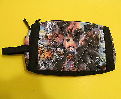 Protect the Wild Quilted Pouch Pencil Make Up Bradford Exchange John Lester 2010