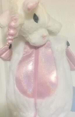 Halloween Unicorn costume 18 months white with pink shimmer