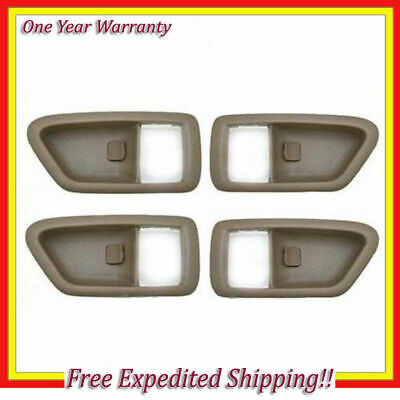 Left + Right Set 4pcs Inner Door Handle Case For 97 98-01 Toyota Camry Tan DS120