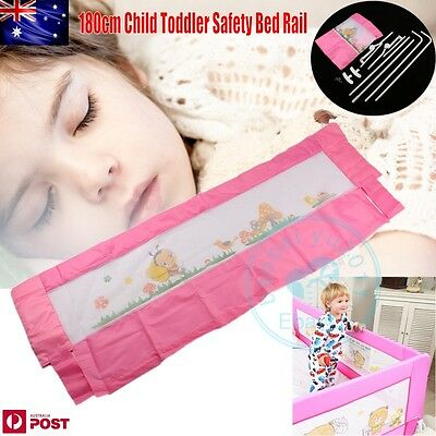 Child Kid Toddler 180cm Safety Bed Rail Baby Bedrail Fold Cot Guard Protection