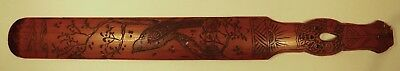 C.1910 Wooden Promotional Paper Knife Griffith Bros Tea Coffee Cocoa Bird Design