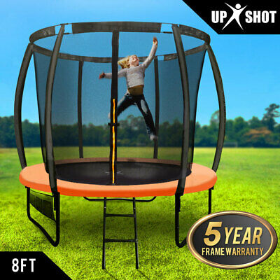 NEW 8ft Round Trampoline Enclosure Safety Net Mat Spring Pad Cover Ladder