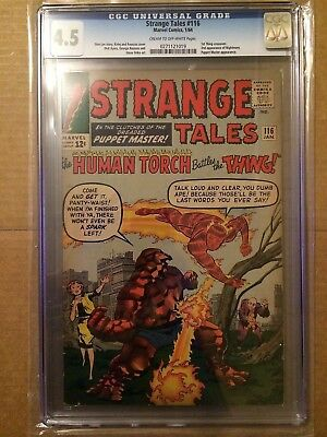 CGC 4.5 Strange Tales #116 *Cream-OW*1st Thing crossover*2nd App. Nightmare*1964
