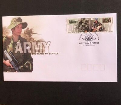 Australia 2001 Army 100 Years Of Service First Day Cover