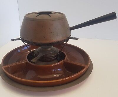 Vintage Fondue Set - Rusty, Dusty and missing Forks but Super Retro Cool