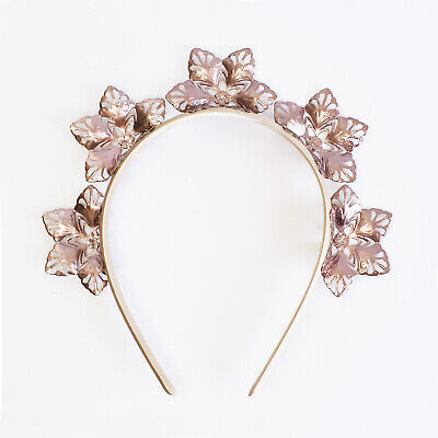 Rose Gold Fascinator Elsa Snowflake Metal Crown Racing Headpiece Races Headband
