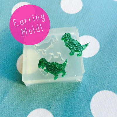 EARRING MOLD - T Rex Dinosaur Resin Craft Silicone Shape Stud Earrings Mould
