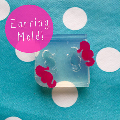 EARRING MOLD - Seahorse Ocean Resin Craft Silicone Shape Stud Earrings Mould