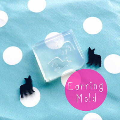 EARRING MOLD - French Bulldog Resin Craft Silicone Shape Stud Earrings Mould